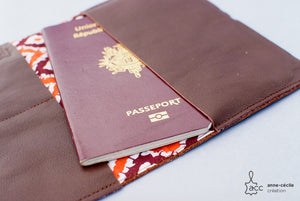 Men leather passport cover