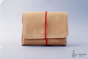 Purse leather natural beige - ProductImage-18670477377694