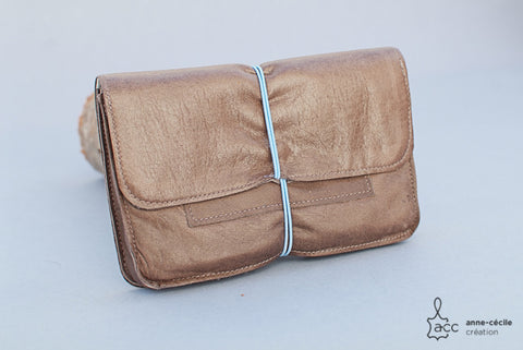 Brown japan tobacco pouch