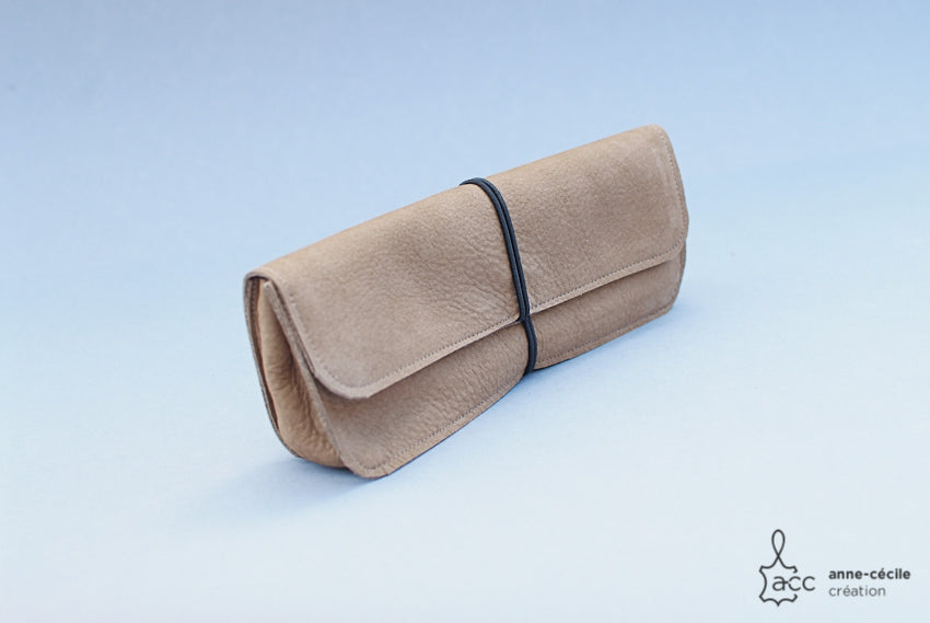 Beige pencil case