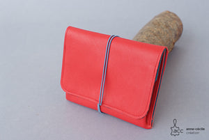 Large red leather purse - ProductImage-19169400357022