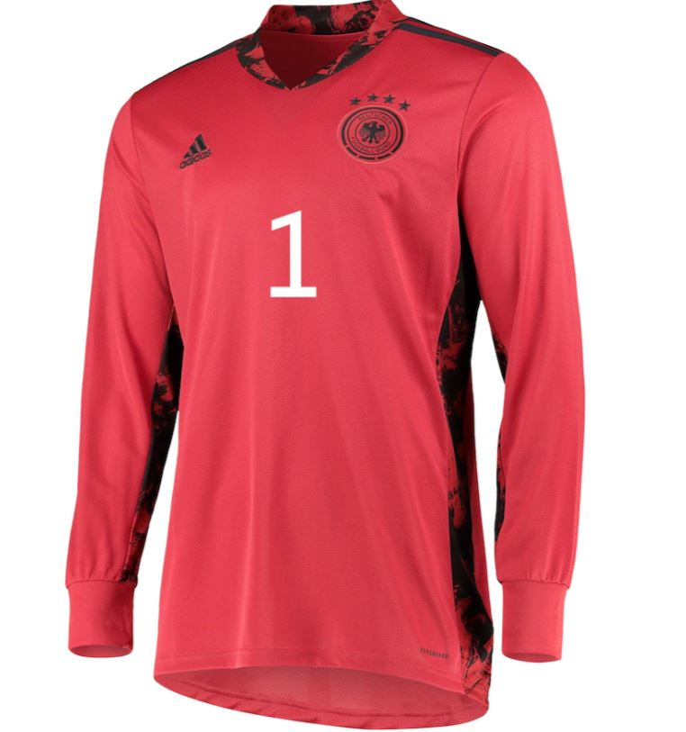 Germany Goalkeeper Shirt with Neuer 1 printing