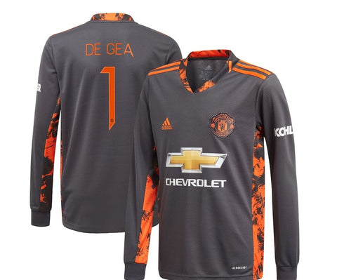 Image of Manchester United  Home Goalkeeper Shirt Shirt 2020-21 with De Gea 1 printing