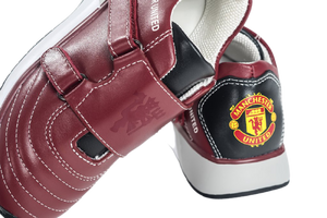 Manchester United KIDS Sneakers Red Premium Calf Leather