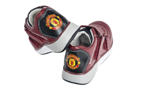 Image of Manchester United KIDS Sneakers Red Premium Calf Leather