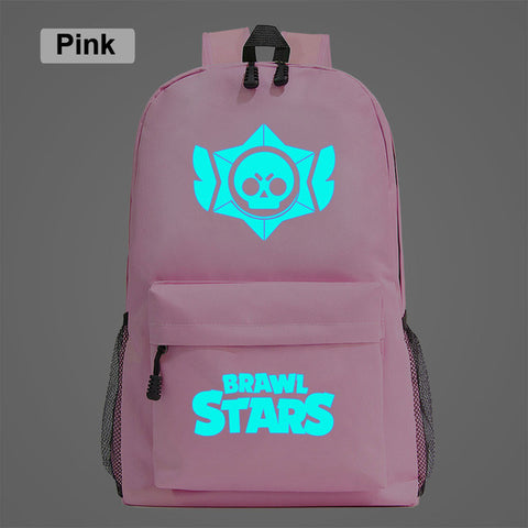 Brawl Stars Luminous Student School Backpack Waterproof