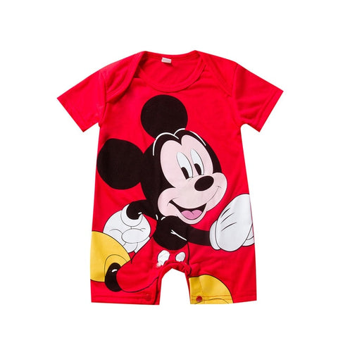 Image of Newborn Mickey Baby Rompers Disney Baby Girl Clothes Boy Clothing Roupas Bebe Infant Jumpsuits Outfits Minnie Kids Christmas