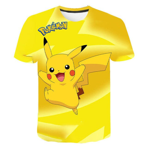 Image of Pokémon 3D printed T-shirt boy girl wild face