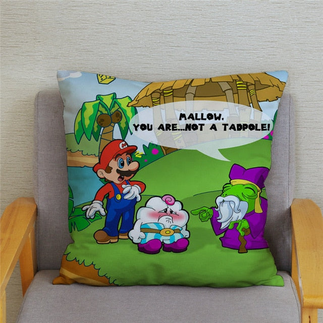 Super Mario Pillowcases 45*45cm Cushion Cover Soft Short Plush Decor Pillow Case Car Sofa Home
