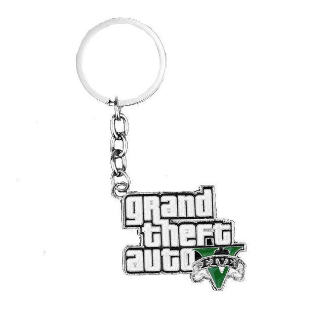 GTA 5 Grand Theft Auto 5 Keychain Key Chain For Men Fans Letter Grand Theft Autob Rock star Keychain Key Buckles