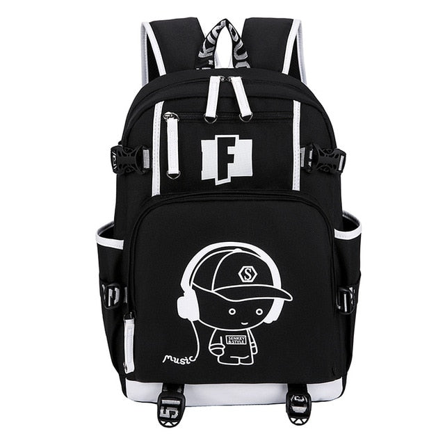 Schoolbag Fortnite Teenager Multifunction USB Backpack Travel Camping Computer Mountaineering Anime Bag