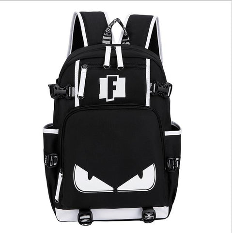 Image of Schoolbag Fortnite Teenager Multifunction USB Backpack Travel Camping Computer Mountaineering Anime Bag