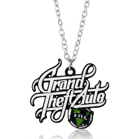 Image of GTA 5 Grand Theft Auto Keychain Key Chain For Fans Xbox PC Rockstar Key Ring Holder 4.5cm Jewelry Llaveros Jewellry