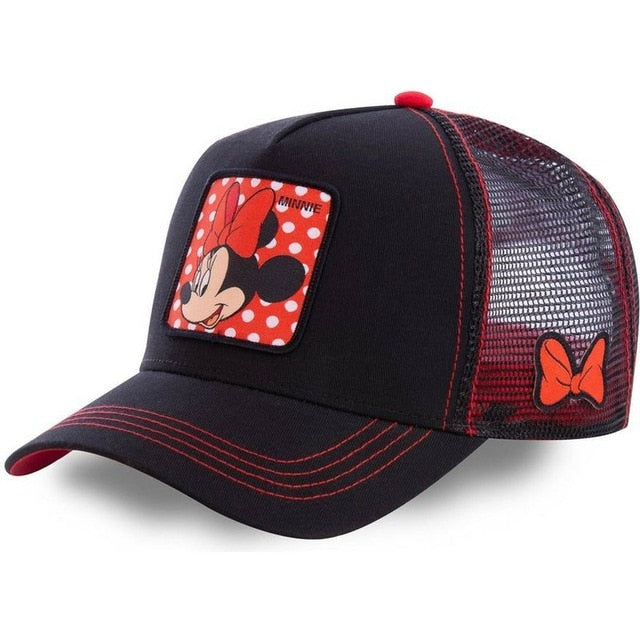 Mickey DONALD Duck Snapback Cotton Baseball Cap Men Women Hip Hop Dad Mesh Hat Trucker Hat