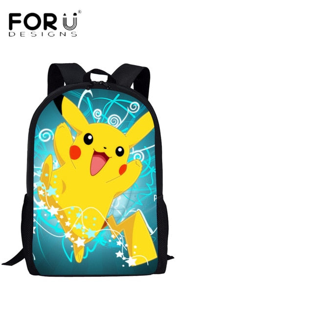 Student School Bags Pokemon Printed Pikachu Middle School Teens Backpack Boys Girl Book Pen