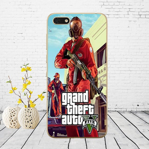 Image of 3D Grand Theft Auto GTA V Soft Silicone Cover Case for Huawei honor 9 10 Lite 7A 5.45 7a pro 7c 5.7 inch 7x 8x  case