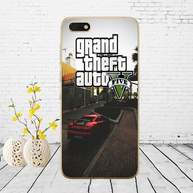 3D Grand Theft Auto GTA V Soft Silicone Cover Case for Huawei honor 9 10 Lite 7A 5.45 7a pro 7c 5.7 inch 7x 8x  case