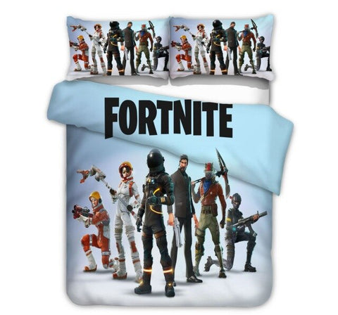 Image of Fortnite Series Duvet Cover Pillowcase Game Figure Model Pattern Children Birthday Toys Gift