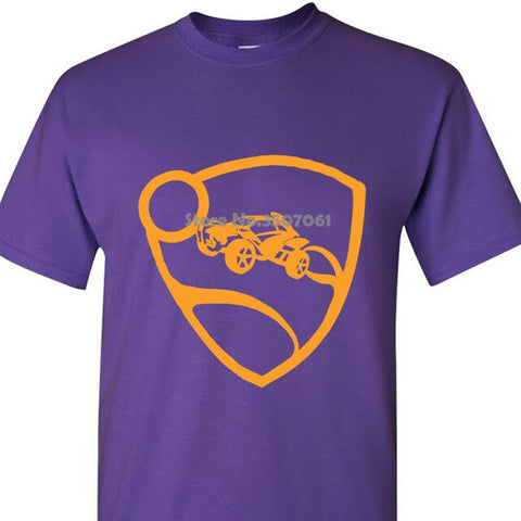 Image of Round Collar Short Sleeve Rocket League Men's Orange Pro Glow Premium  Hoodies & Sweatshirts