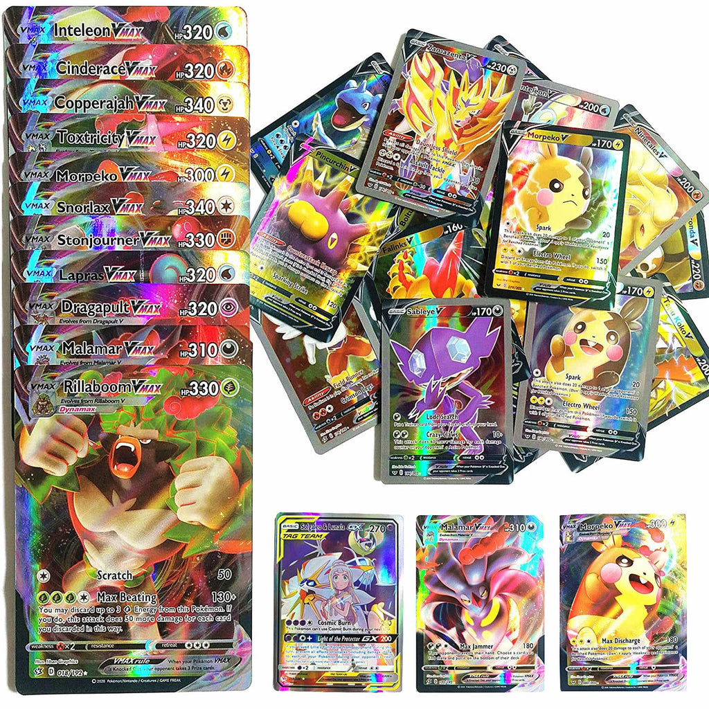 TAKARA TOMY Pokemon Cards V VMAX TAG TEAM MEGA EX GX Trainer Energy Shining Carte PokéMon Card Kids Game Battle Trading Card Toy