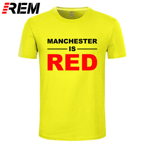 Image of Summer Style T Shirts Men Cotton Manchester United Top Camisa Masculina