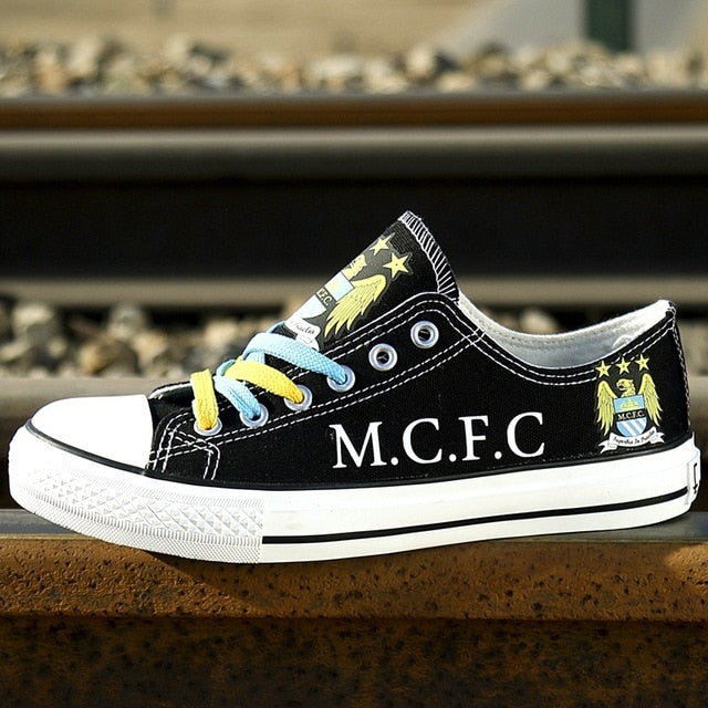 European Football Team Custom Pattern, Canvas Shoes