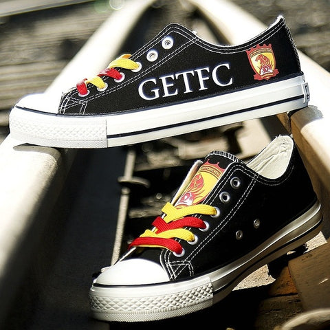 Image of European Football Team Custom Pattern, Canvas Shoes