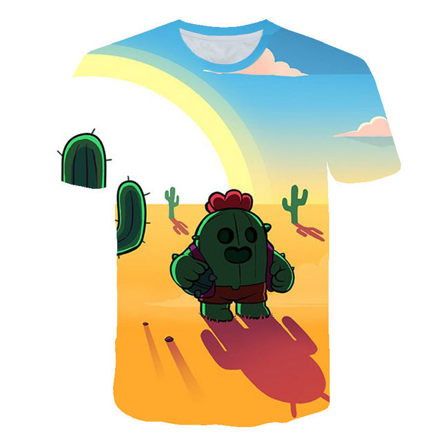 Brawl Stars T-Thirt, Kids, 3D Print