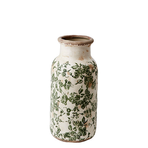 Decorative Green Ceramic Floral Vase