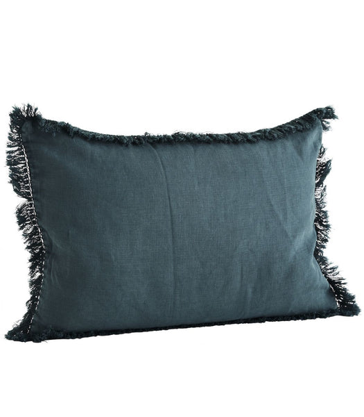 Navy Stonewashed Linen Cushion