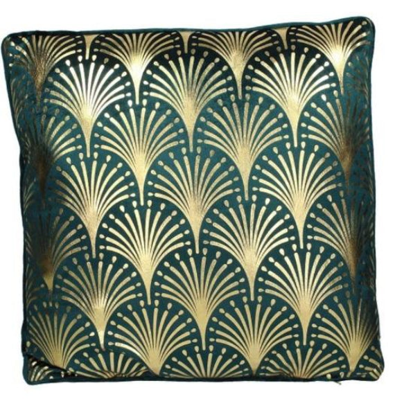 Art Deco Inspired Cushion And Printed Cover