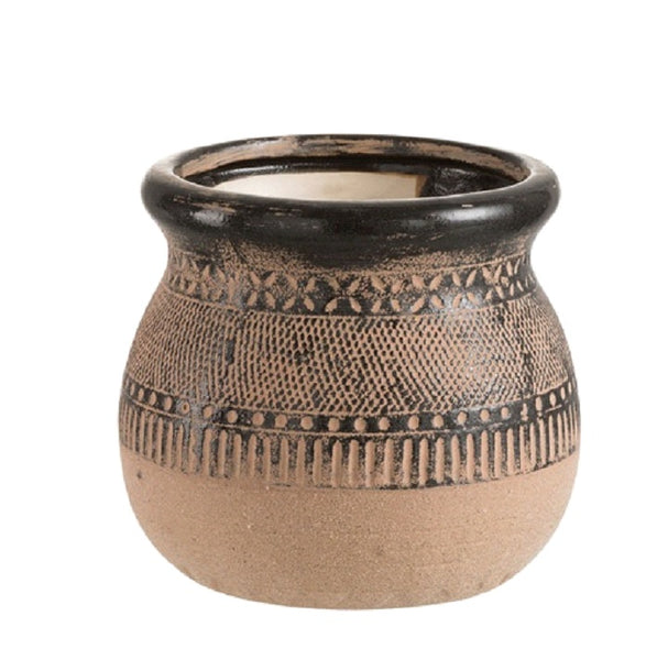 Tribal Ceramic Plant Pot