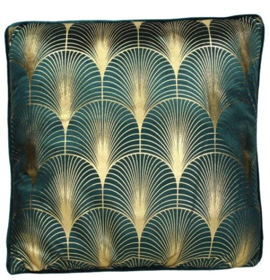 Art Deco Style Soft Cushion Cover With Infill