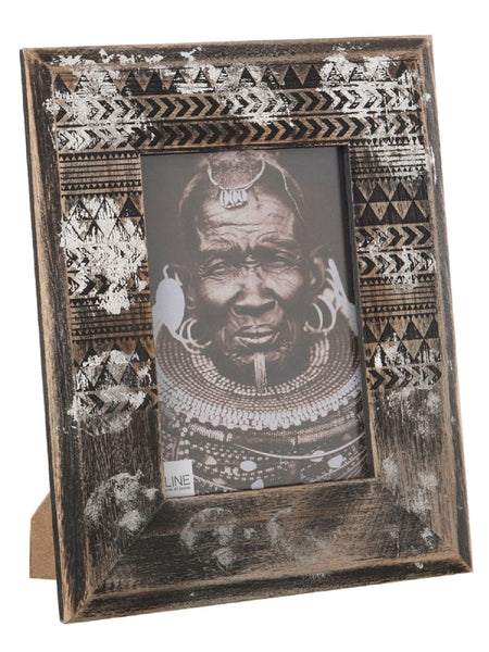 Tribal Style Wooden Photo Frame
