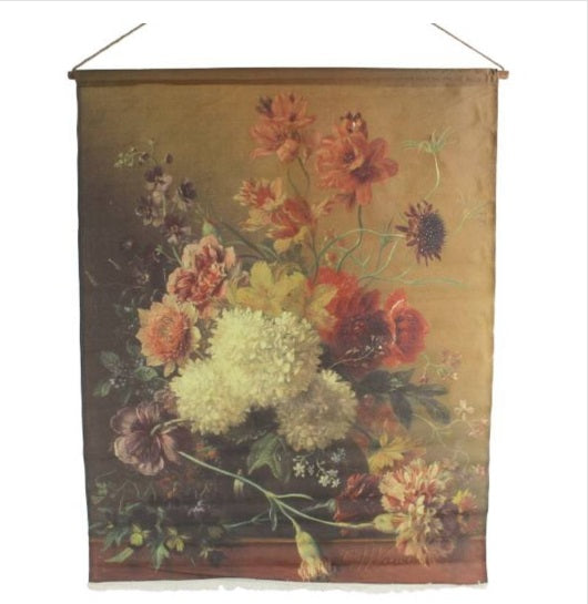 Rustic Floral Canvas Hanging Wall Art