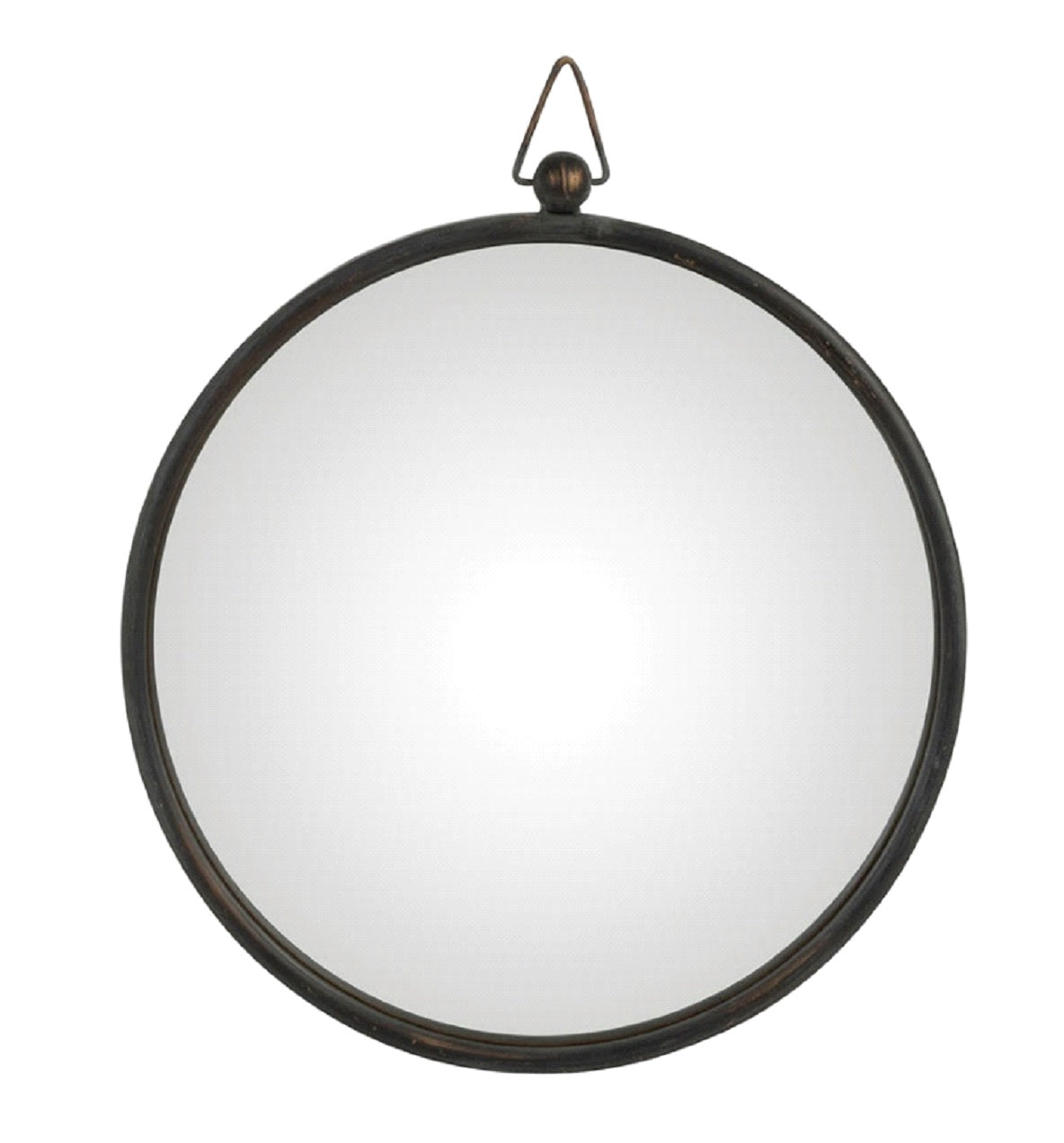 Round Black Convex Mirror