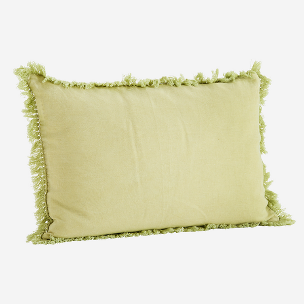 Lemon Stonewashed Linen Cushion
