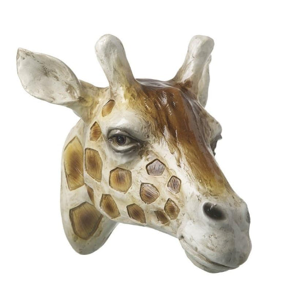 Artificial Hanging Giraffe Head Wall Art