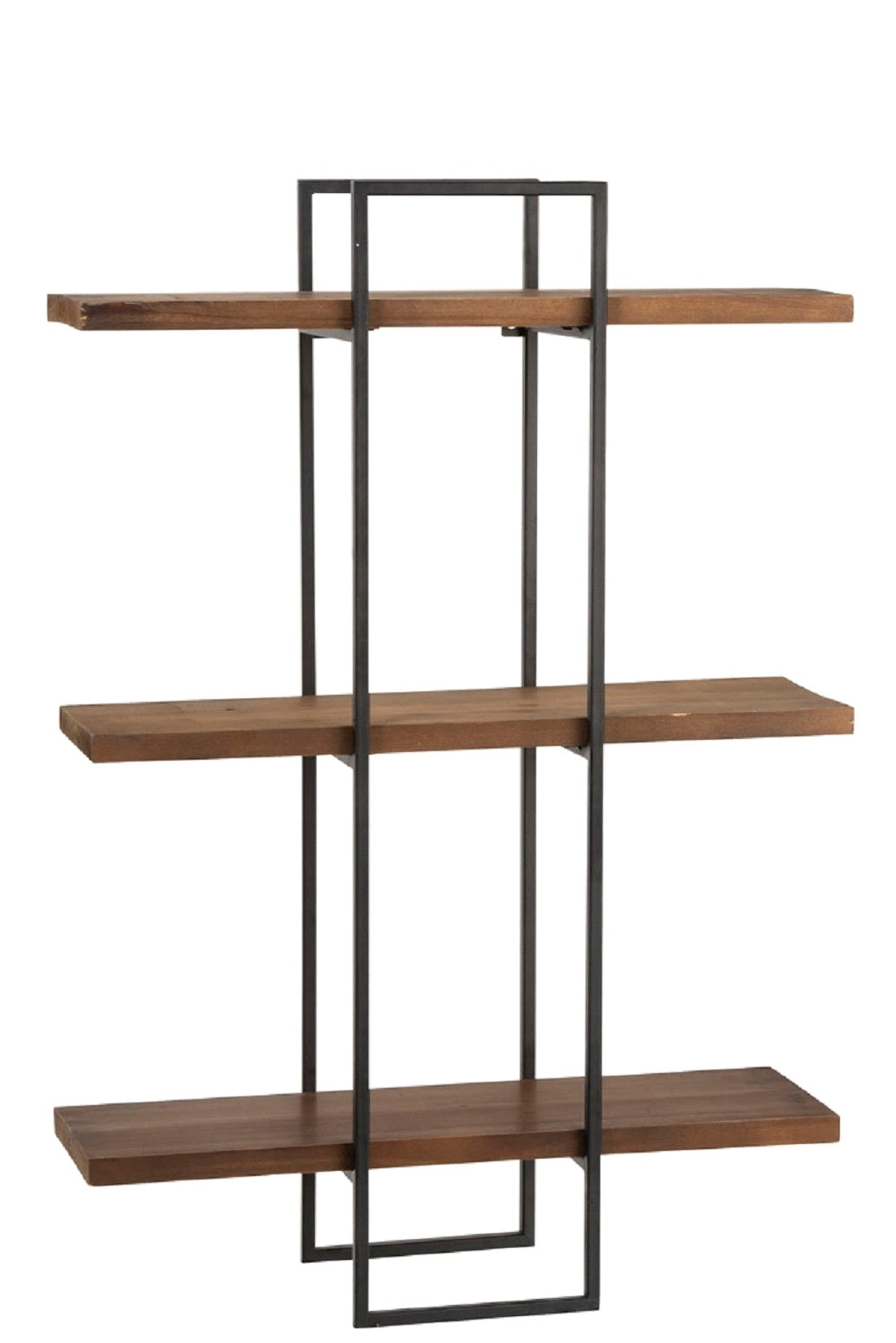 Wood & Metal Industrial Style Shelving Unit