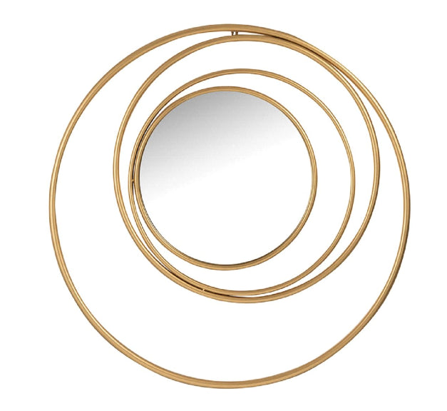 Concentric Circles Gold Mirror
