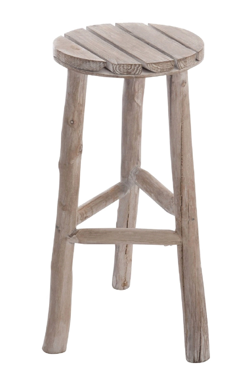 White Washed Wooden Stool
