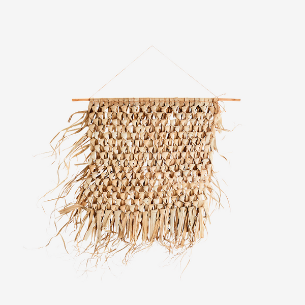 Woven Palm Leaf Hanging Wall Art