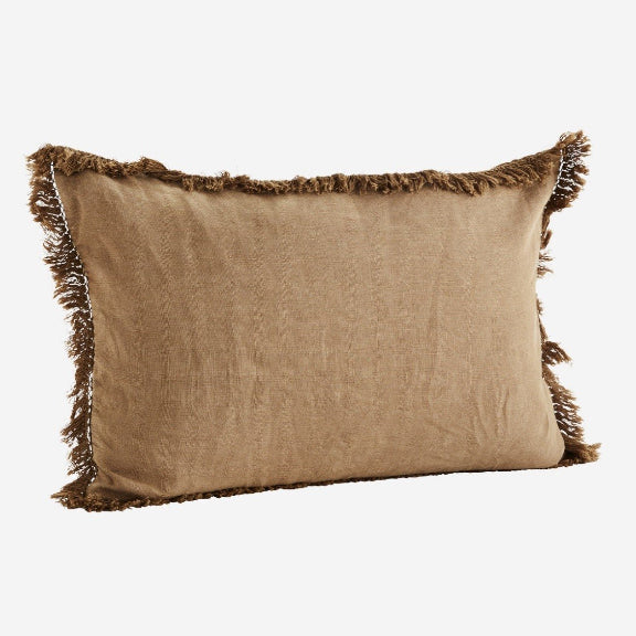 Brown Sugar Stonewashed Linen Cushion