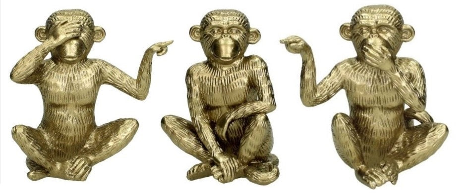 Set Of Three Wise Monkey Ornament