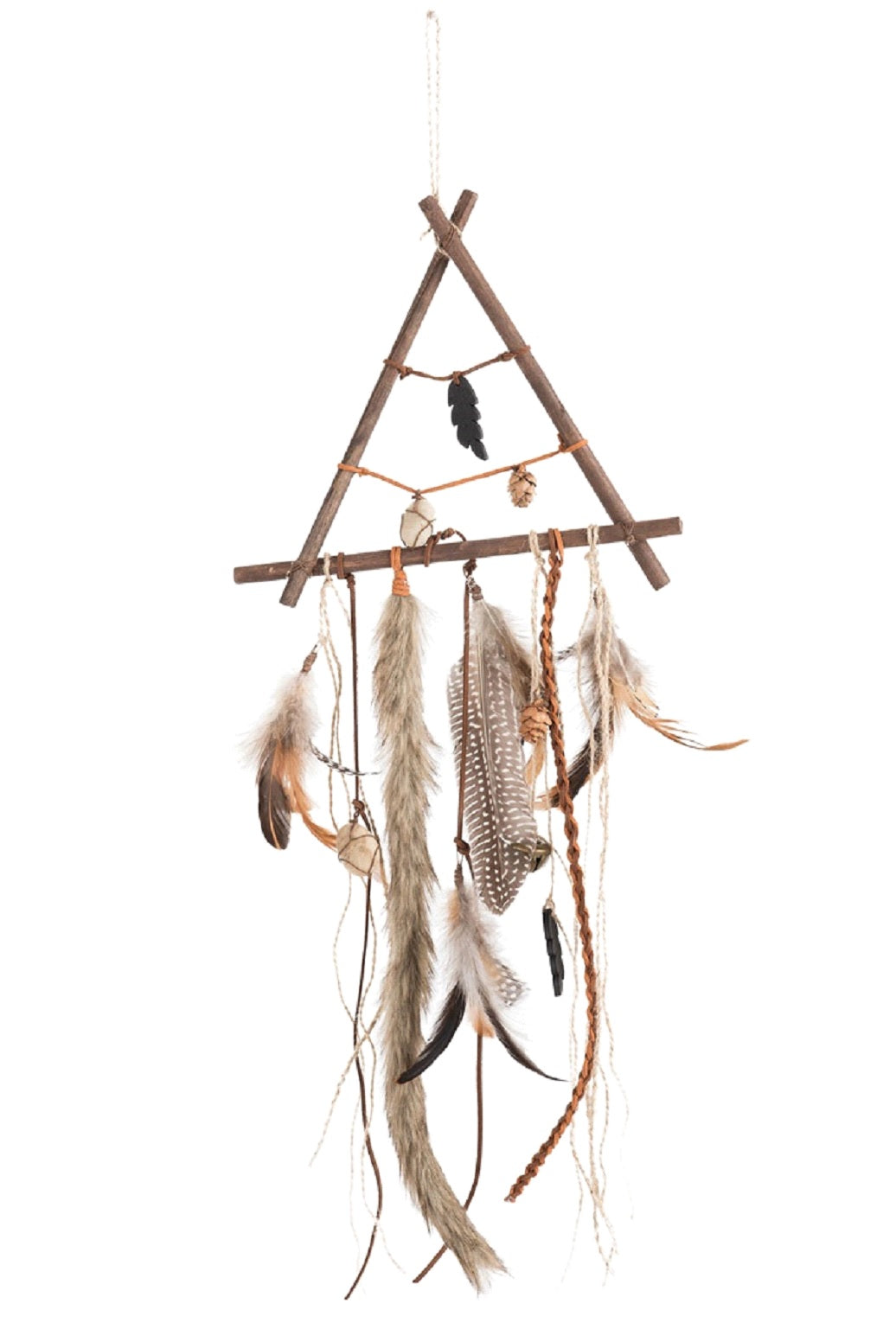 Wood And Natural Feather Dreamcatcher