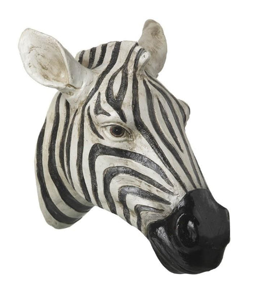 Artificial Hanging Zebra Head Wall Art