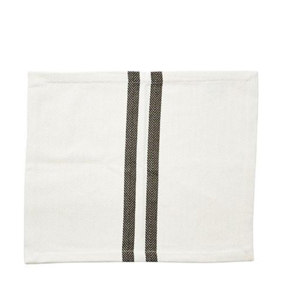 Rectangular Green Striped Woven Napkin