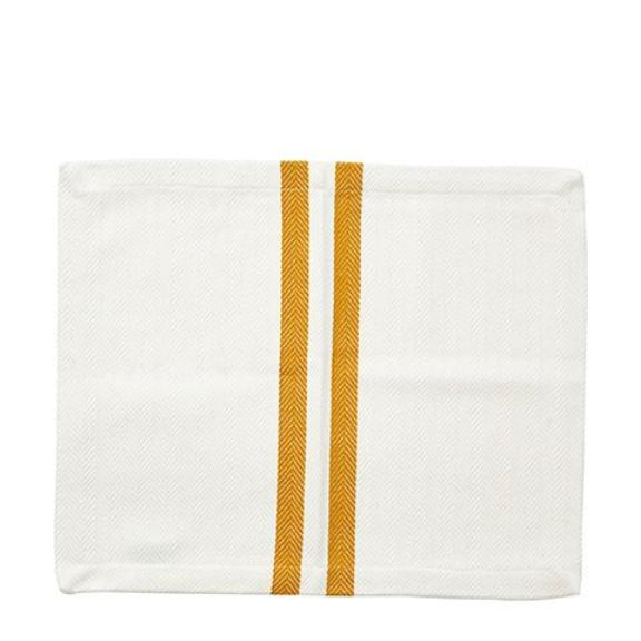 Rectangular Yellow Striped Fabric Napkin