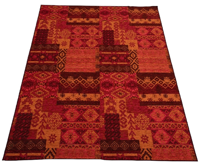 African Style Rug In Earthy Tones