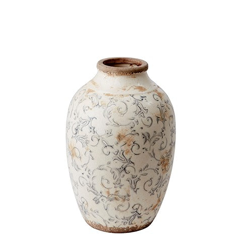 Rustic Decorative Ceramic Floral Vase